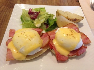 Eggs Benedict at Eggcellent